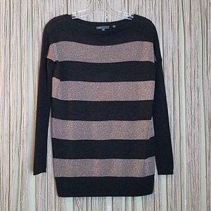 Vince Cashmere Blend Stripe Metallic Sweater XS